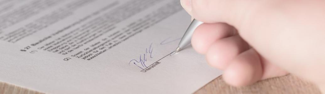 Щодо підпису документів тендерної пропозиції